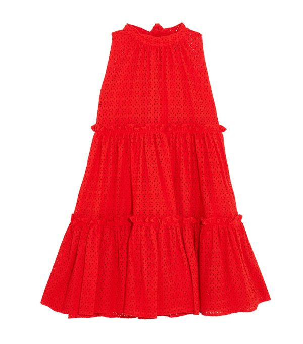 How to shop on ebay: Lisa Marie Fernandez Ruffled Broderie Anglaise Cotton Mini Dress