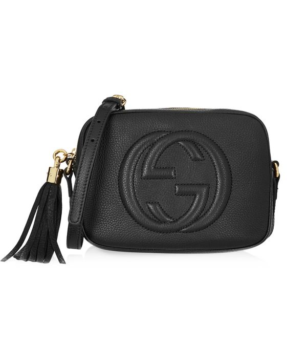 How to shop on ebay: Gucci Soho Disco Textured-Leather Shoulder Bag