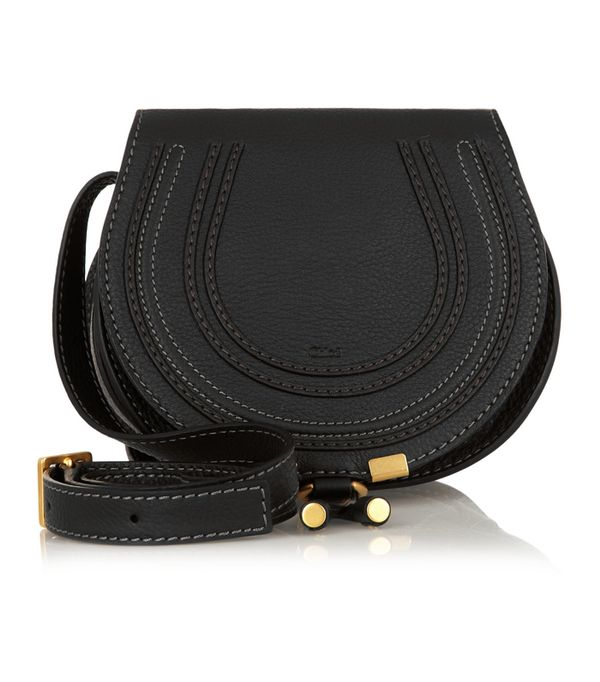 How to shop on ebay: Chloé The Marcie Mini Textured-Leather Shoulder Bag