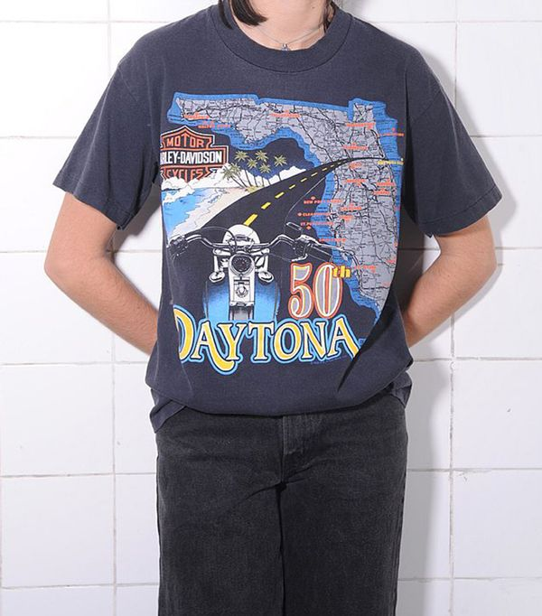 best vintage t shirts - The Vintage Twin Rare 50-50 Daytona Harley Tee