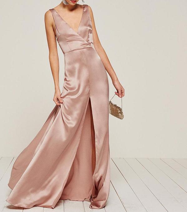 cool bridesmaid dresses - Reformation Eliana Dress