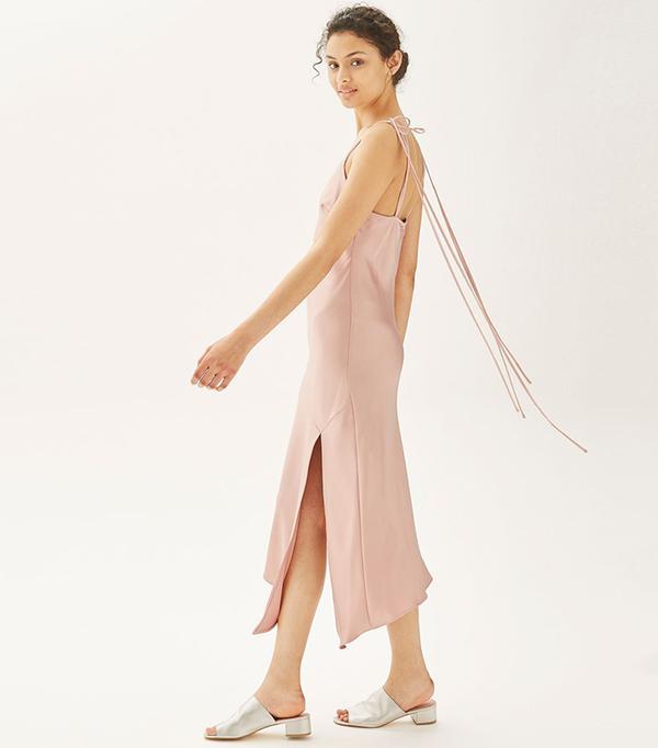 cool bridesmaid dresses - Topshop Asymmetric Hem Slip Dress