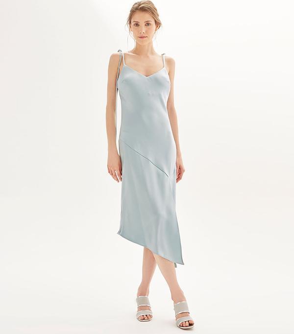 best bridesmaid dress - Topshop Asymmetric Hem Slip Dress