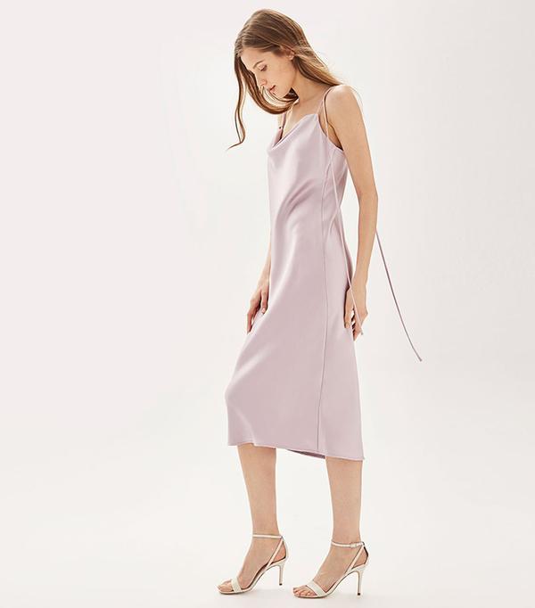 cool bridesmaid dresses - Top Shop Cowl Neck Slip Dress by TOPSHOP BRIDE