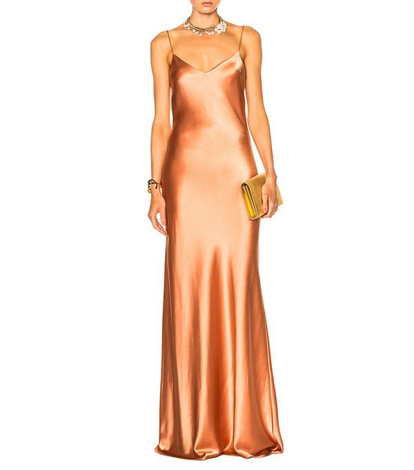 cool bridesmaid dresses - Galvan Alcazar V Neck Dress
