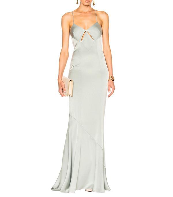 cool bridesmaid dresses - Galvan Slit Spaghetti Strap Dress