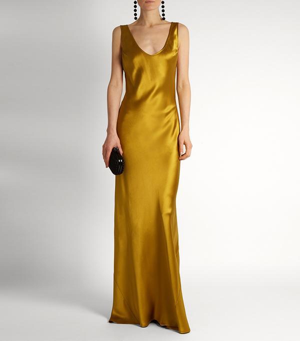 cool bridesmaid dresses - Galvan Valletta silk-satin slip dress