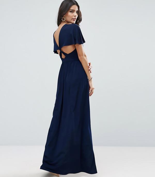 cool bridesmaid dresses - ASOS Kimono Cross Back Maxi Dress with Side Splits