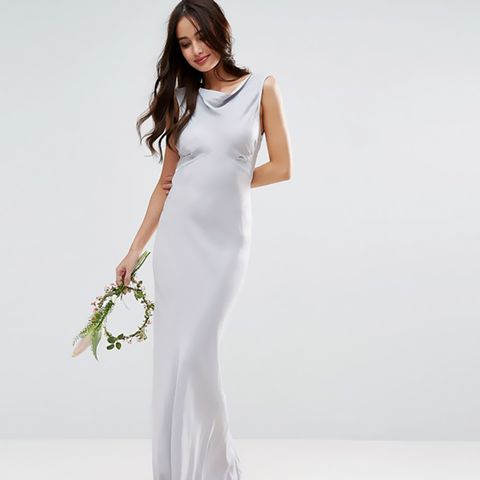 40s Seamed Maxi Dress