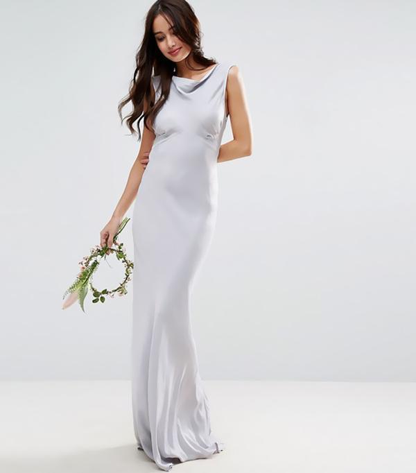 cool bridesmaid dresses - ASOS Wedding 40s Seamed Maxi Dress