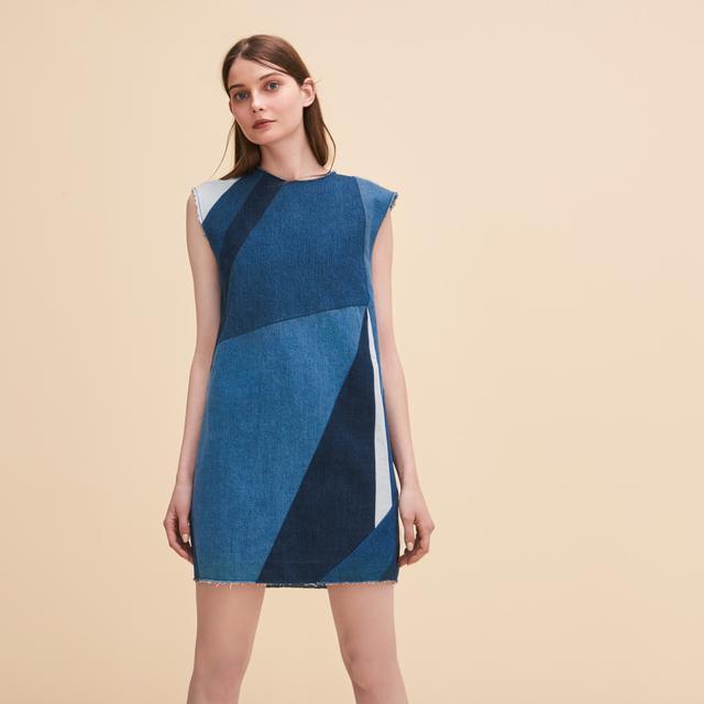 Maje Denim Three-Hole Dress