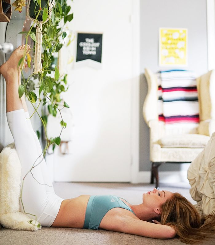 How to do legs up the wall pose