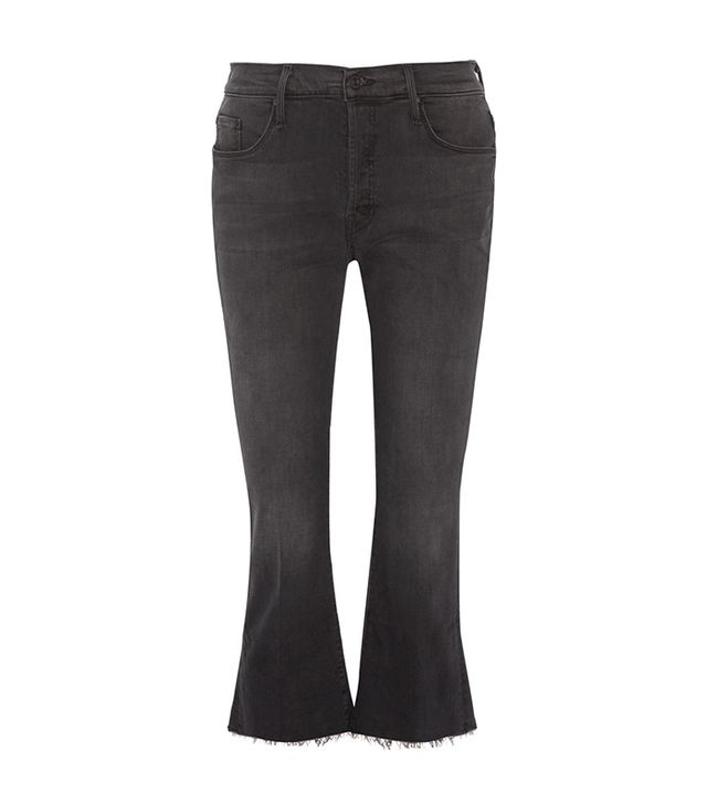 Mother The Nomad Cropped Mid-Rise Flared Jeans