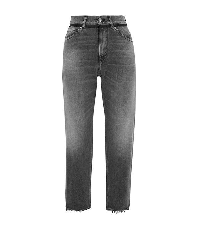 Golden Goose Deluxe Brand Komo Cropped High-Rise Straight-Leg Jeans