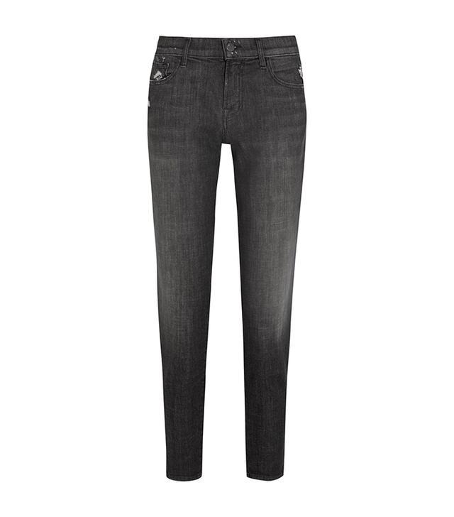 J Brand Sadey Cropped Distressed Slim Boyfriend Jeans