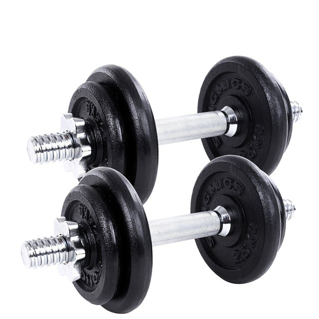 weight training for women: Gallant Cast Iron 20kg Dumbbells Set