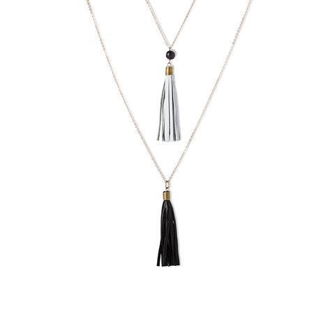 Dual Tassel Necklace