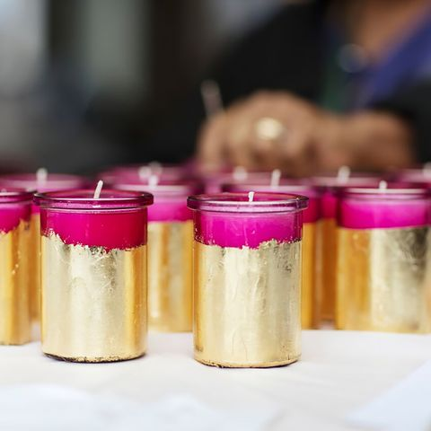 Gold Foiled Candle