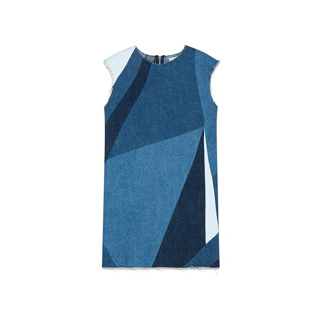 Maje Ratch Denim Three-Hole Dress