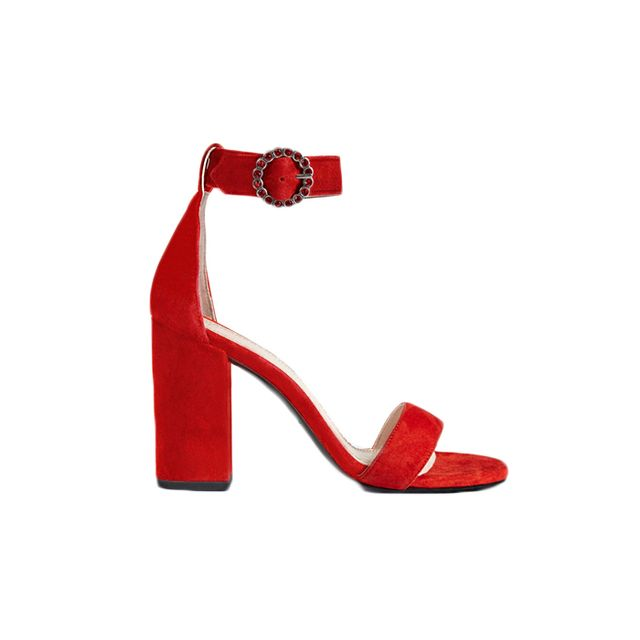 Maje Faria Suede Heeled Sandals