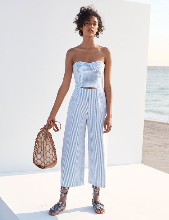 Zara Cut-Out Boatneck Jumpsuit