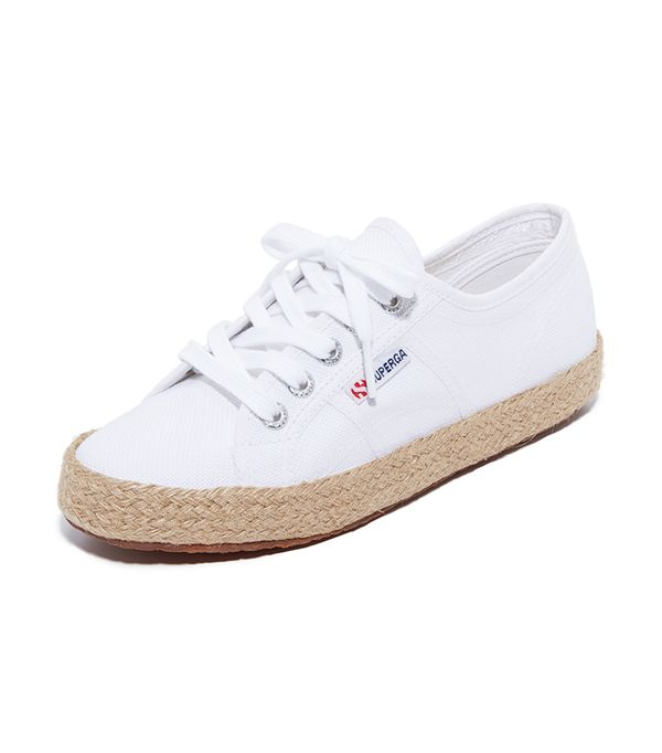 best white summer sneakers- superga 2750 Cotu Espadrille Sneakers