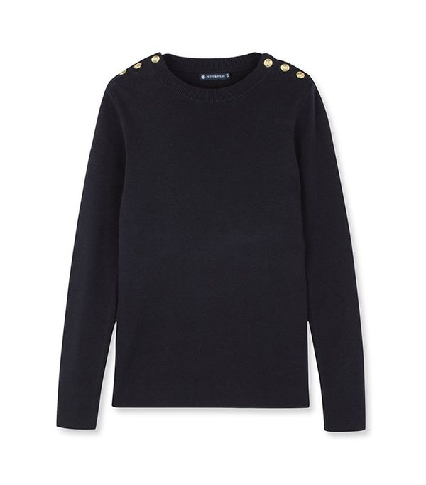 best white jeans - Petit Bateau Sailor Sweater
