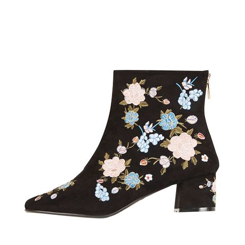 Blosson Floral Ankle Boots