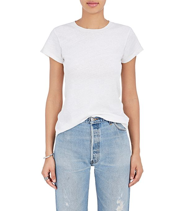 best white jeans - Re/Done 1960s Slim Tee