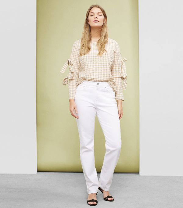 best white jeans - Violeta Straight-Fit Theresa Jeans