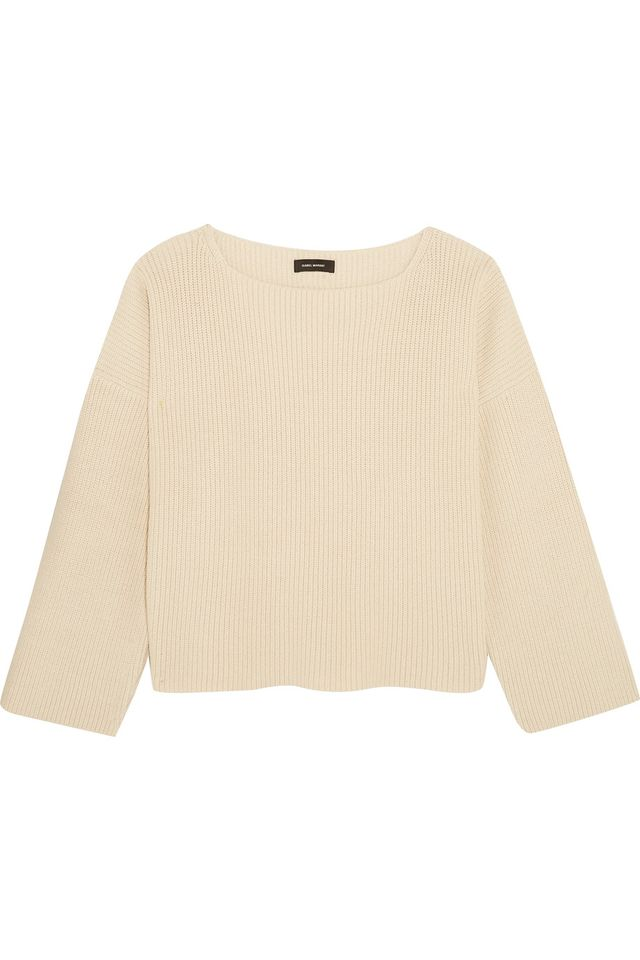 cream knit top - Isabel Marant Fly Ribbed Sweater