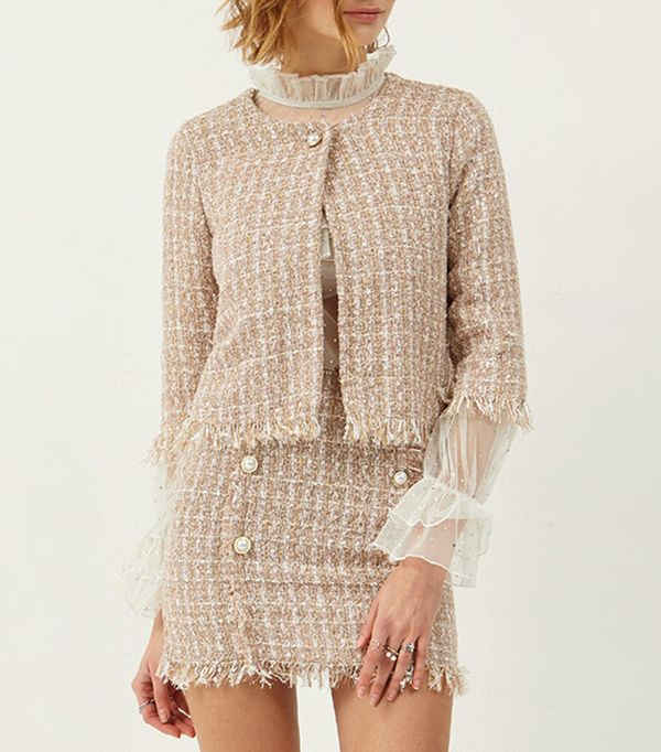 matching crop top and skirt - Storets Dora Tweed Jacket