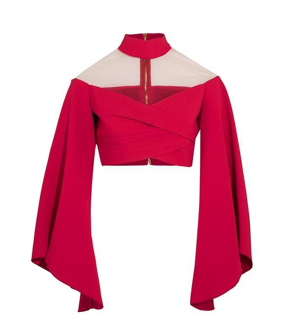 crop top outfit - Balmain Cropped Top