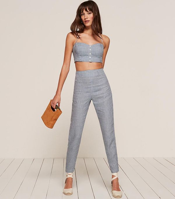 crop top outfit - Reformation Claudia Two-Piece