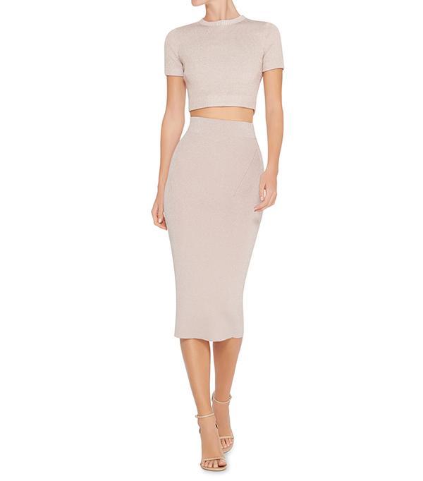 matching crop top and skirt - Cushnie et Ochs Cropped Crewneck Top