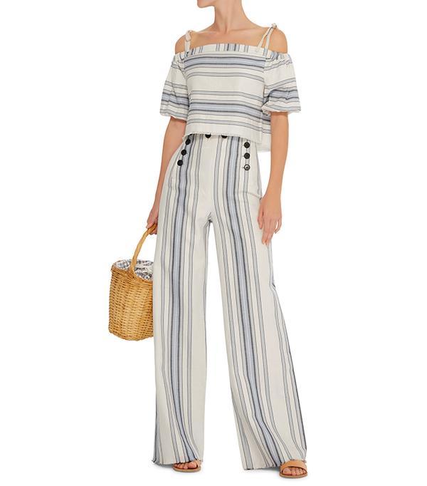 crop top outfit - Lemlem Halima Crop Top