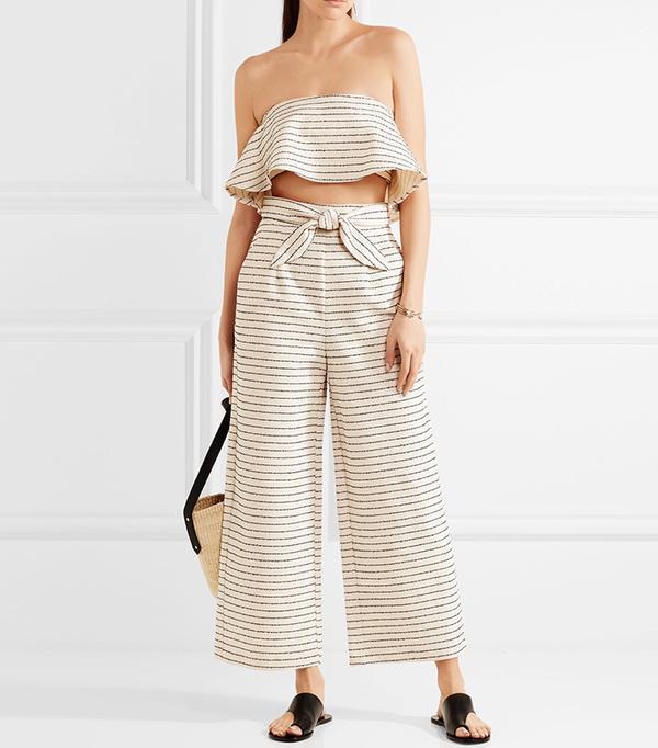 crop top outfit - Mara Hoffman Striped Top