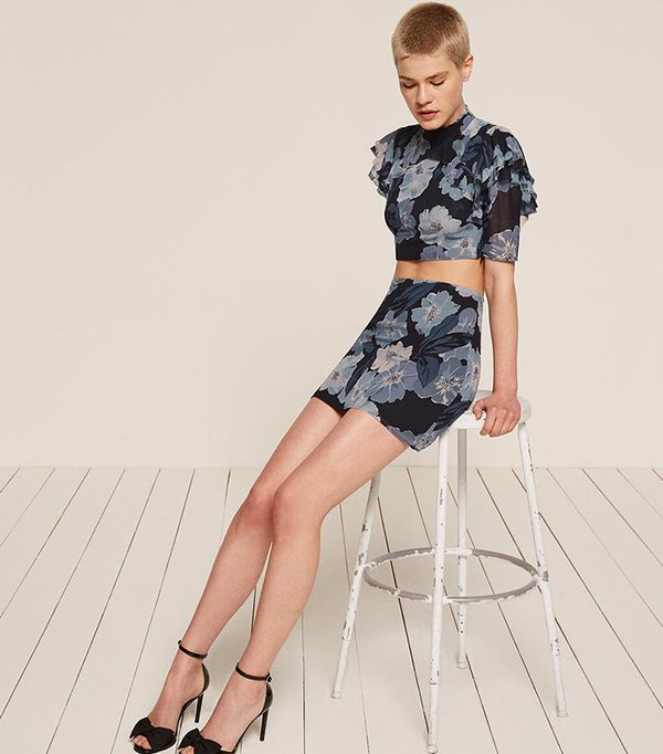 matching crop top and skirt - Reformation Rosie Two Piece