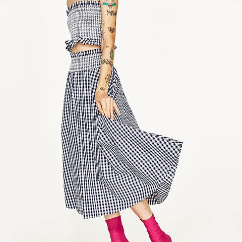 Gingham Skirt and Top