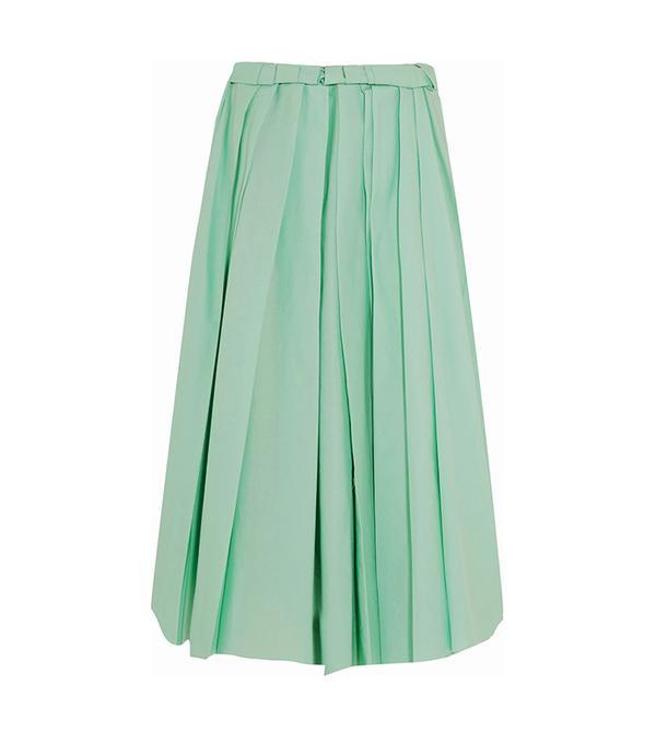 bold color -  Marni Pleated Midi Skirt