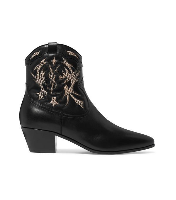 bold color -  Saint Laurent Rock Ankle Boots