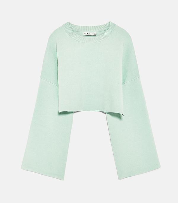 bold color - Zara Cropped Sweatshirt