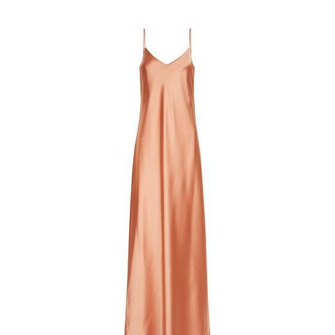 Burnt Orange Alcazar Slip Gown