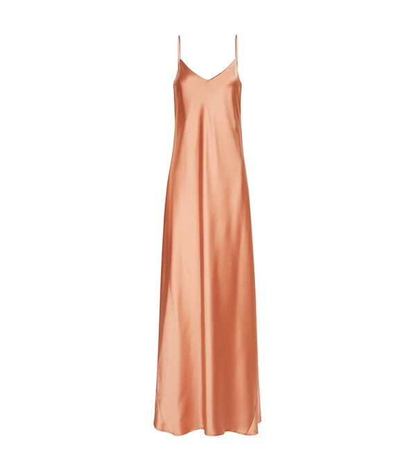 bold color -  Galvan Burnt Orange Alcazar Slip Gown