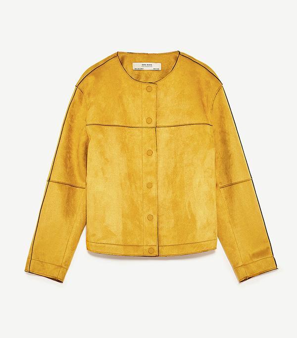 bold color - Zara Suede Effect Jacket