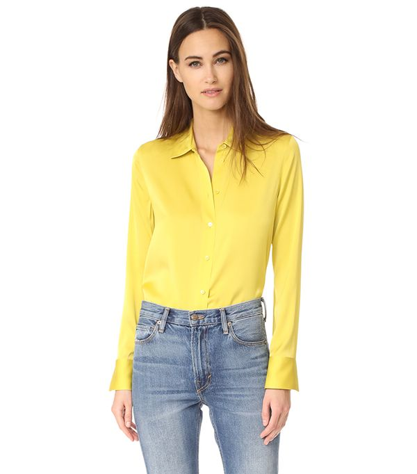 bright color - Vince Slim Fitted Blouse