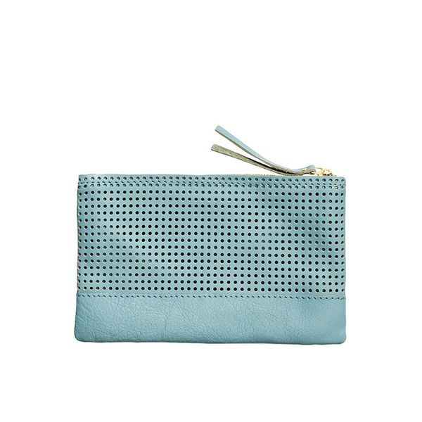 Capra Perforated Leather Accessory Pouch