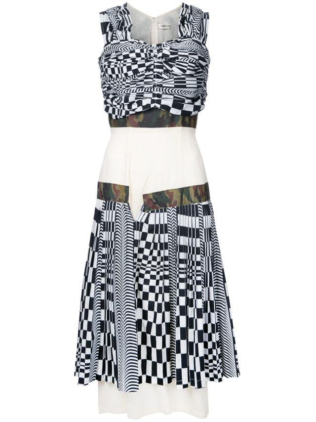 Comme des Garçons Checkerboard Rib Cage Dress