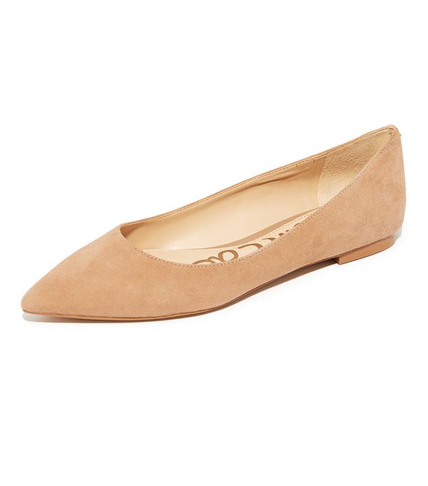 best tan flats- sam edelman rae