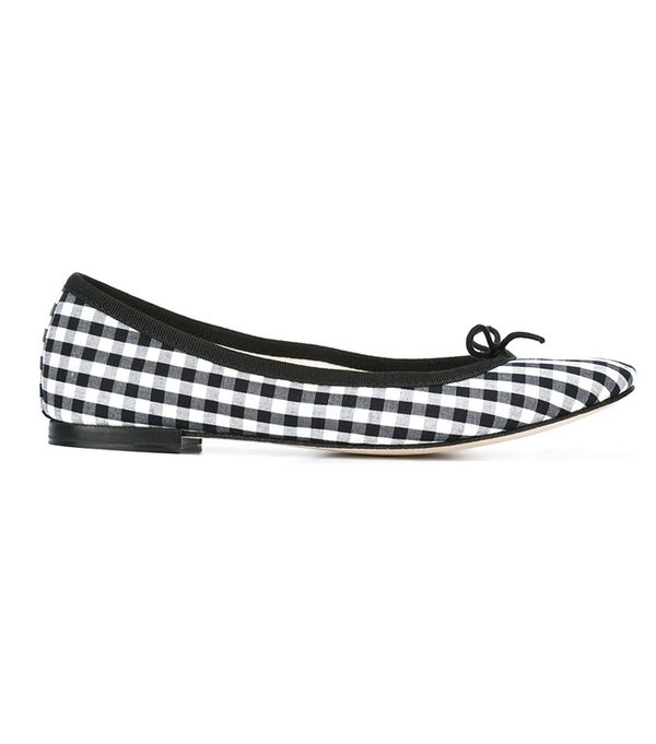 best printed flats- repetto gingham ballerinas